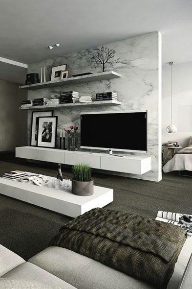 mur avec tv