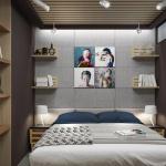 kulmahyllyt makuuhuoneessa