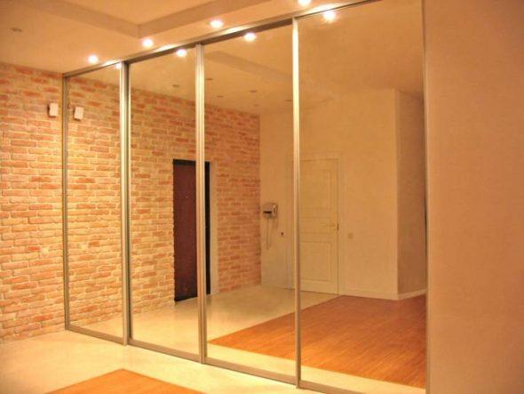 Grand meuble miroir avec éclairage