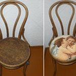 Chaises de décor - découpage et restauration