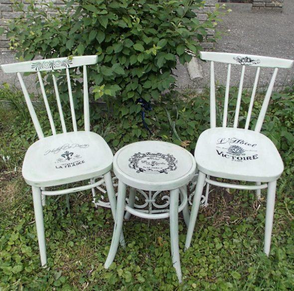 Chaise de découpage de style provençal