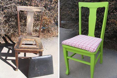 Exemples de vieilles chaises mises à jour