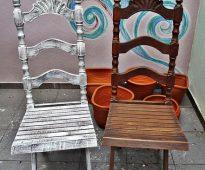 Restauratie van een houten stoel