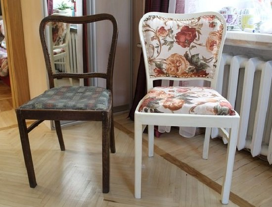 Restauration de vieilles chaises-réparation