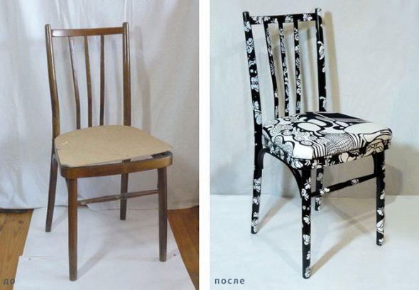 Restauration de la chaise pour la cuisine