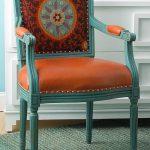 Restauration d'une chaise avec sellerie en cuir