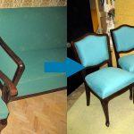 Restauration de chaises et de ses résultats