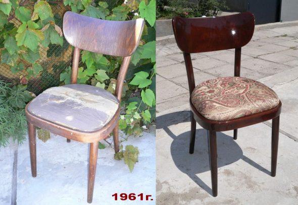 Restauration des chaises elles-mêmes