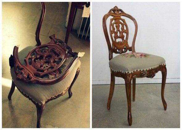 Restauration de chaises à la maison