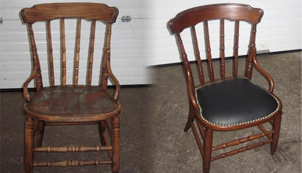 une chaise bon marché se transforme en antiquité