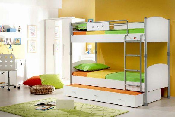 lit superposé blanc pour enfants