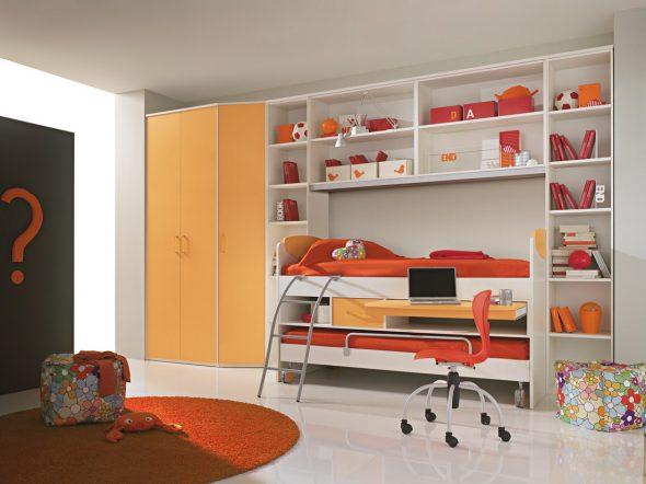 Concevoir une petite chambre d'enfants avec transformateur de meubles intégré