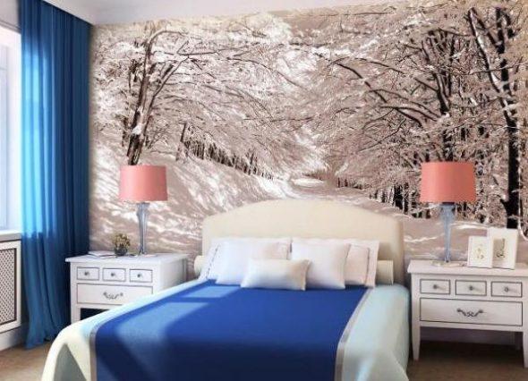 Petite chambre en hiver