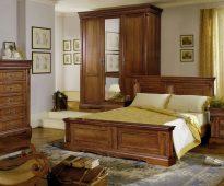 Meubles de chambre à coucher en chêne des marais