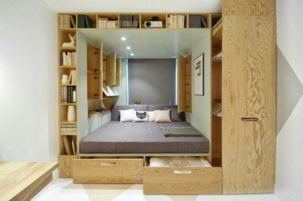 Transformateur de meubles en contreplaqué pour une petite chambre