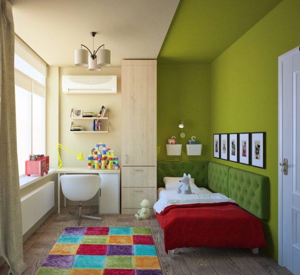 Petite chambre d'enfants avec zonage