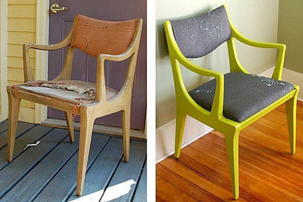nouvelle vie lumineuse pour la chaise
