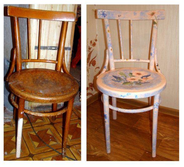 nouvelle chaise avec des fleurs