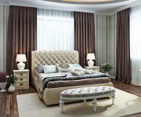 Grand lit avec tête de lit douce