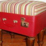 Ottoman souple original de la valise