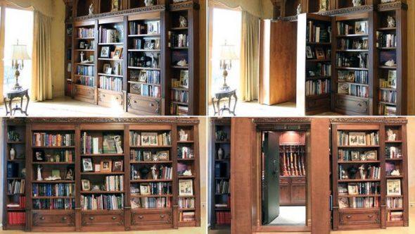 Salainen ovi kirjastosta armeijaan