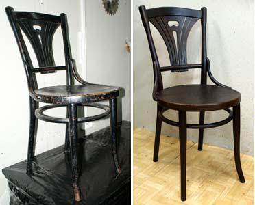 exemple de la restauration de la chaise viennoise