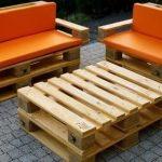 Couvre-meubles orange de palettes