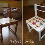 restauration de chaises pour enfants