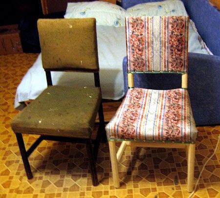 restauration d'image de chaise
