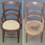 restauration de chaises avec votre propre photo de mains avant et après