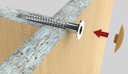 la vis autotaraudeuse est un produit métallique de fixation fiable et solide