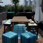 Conception indépendante de meubles pour la véranda dans le même style