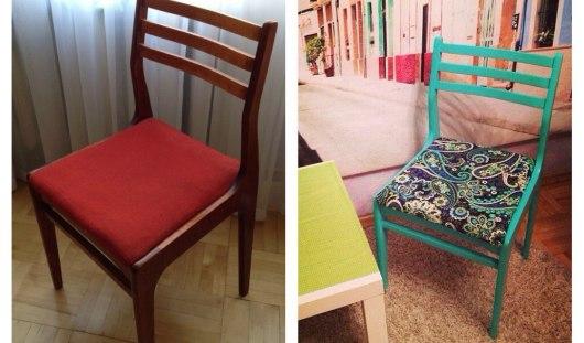 vieille chaise avant restauration