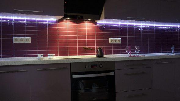 Éclairage LED meubles de cuisine