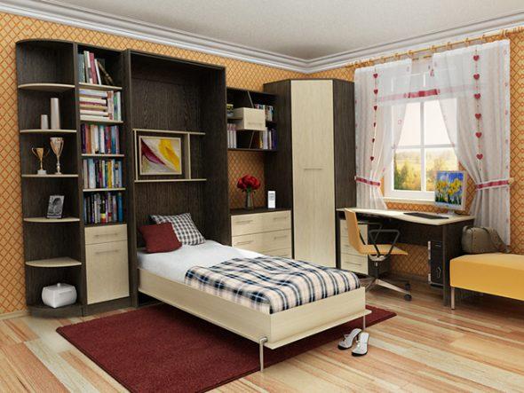 Chambre confortable avec lit transformateur intégré