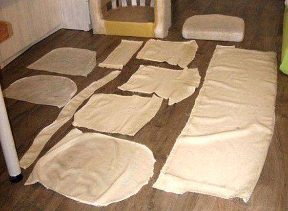 Modèle pour la constriction de meubles