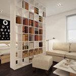 Zone de bibliothèque pour la chambre à coucher du salon