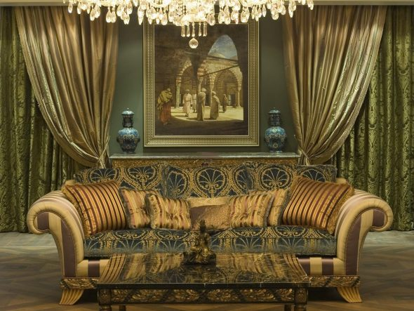 Baroque dans un intérieur moderne