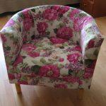 Nouveau fauteuil à fleurs rembourré
