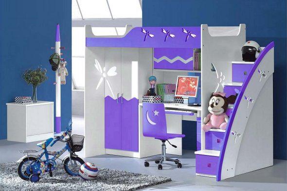 Meubles de chambre d'enfant en MDF