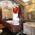 Design de salle de bain de luxe inhabituel