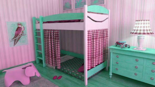 Conception intéressante d'un lit mezzanine pour enfants