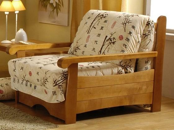 Cadre en bois pour une chaise-lit