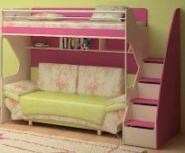 Beau et confortable mobilier dans la chambre des filles