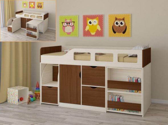 Lit grenier pour les enfants de 3 ans Astra