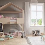Maison de lit à l'intérieur de la chambre