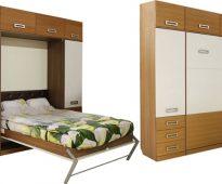 Armoire de lit démontée et assemblée
