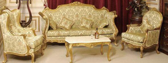 Meubles dans le salon dans le style baroque