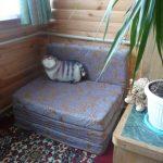 Fauteuil moelleux pour le balcon à faire soi-même