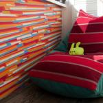 Sac de chaise coloré avec ses propres mains